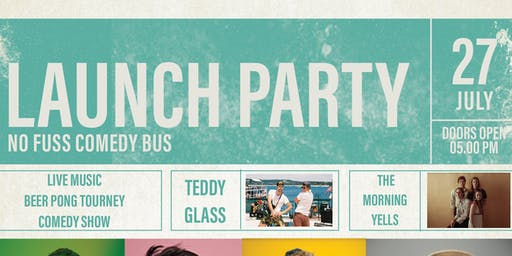 LAUNCH PARTY: No Fuss Comedy Bus