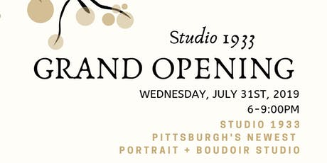 Studio 1933 Grand Opening Event tickets