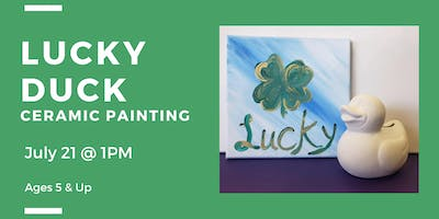 Lucky Duck Bank (Ceramic Painting for Children)