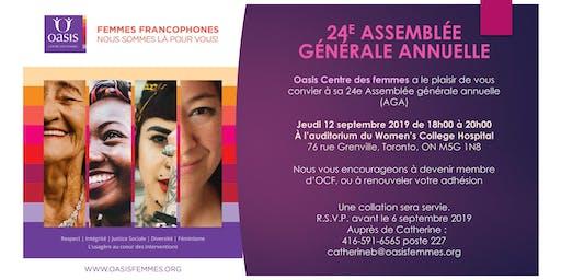 24e AGA d'Oasis Centre des femmes