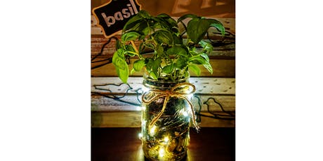 DIY Mason Jar Indoor Herb Garden with Fairy Lights tickets