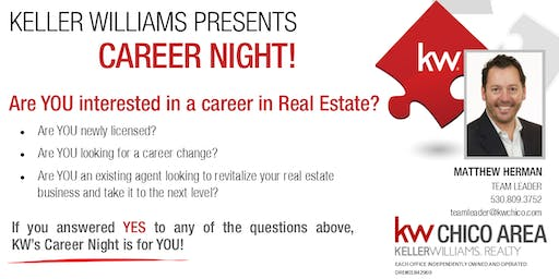 Keller Williams Career Night - August 1st