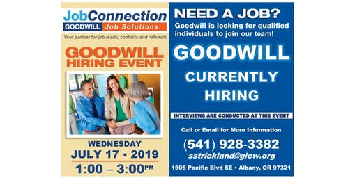 Goodwill is Hiring  - Albany - 7/17/19