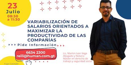 VARIABILIZACIÓN DE SALARIOS ORIENTADOS A MAXIMIZAR LA PRODUCTIVIDAD DE LAS COMPAÑÍAS entradas