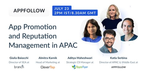 App Promotion and Reputation Management in APAC tickets