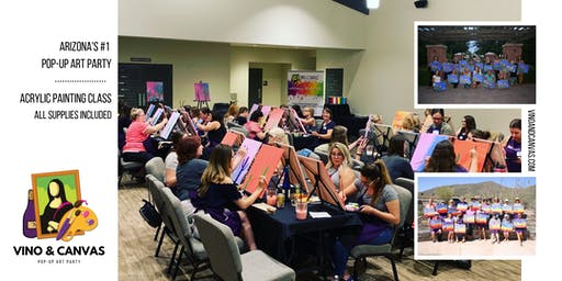 Painting Class taught by Vino and Canvas - Get Your Artistic Buzz On