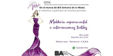 CLASE PARTICIPATIVA DE MOLDERIA EXPERIMENTAL E INTERVENCIONES TEXTILES entradas