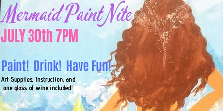 Mermaid Paint & Sip tickets