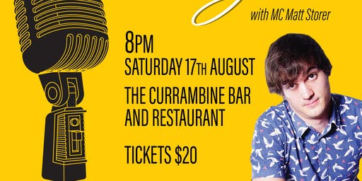The Theatre Garden ' Standup'  at Currambine Bar and Bistro