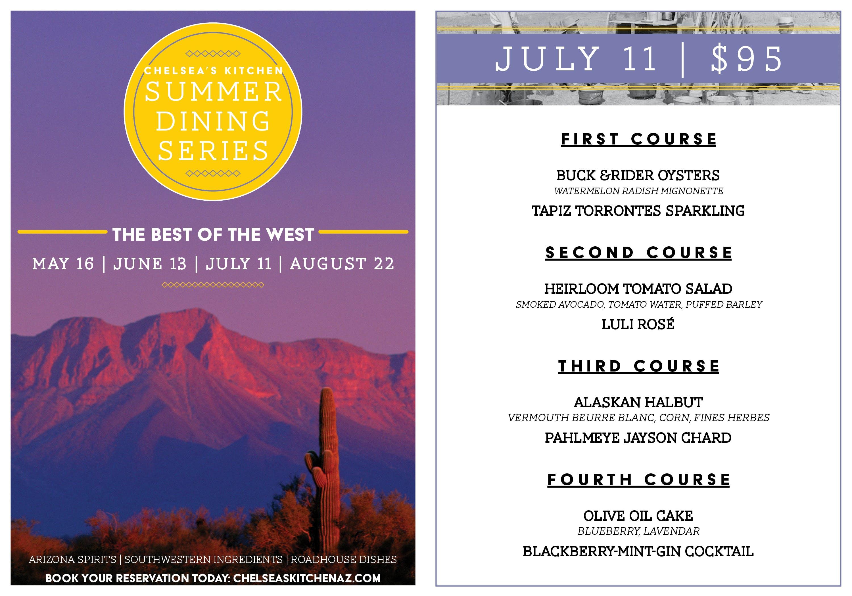 Chelsea's Kitchen Summer Dining Series   August