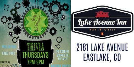 HeadTilt Trivia at Lake Avenue Inn - Eastlake, CO