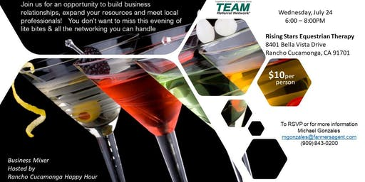 Rancho Cucamonga Happy Hour Business Mixer