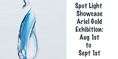 Ariel Gold Brush Strokes Exhibition Opening Reception