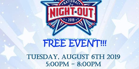 National Night Out-Community Outreach  Table Registration tickets