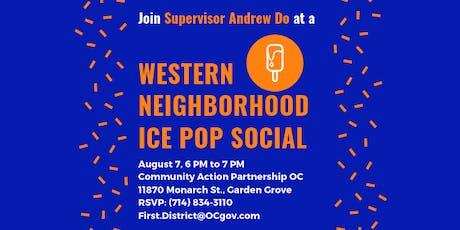 Western Neighborhood Ice Pop Social with Supervisor Andrew Do tickets