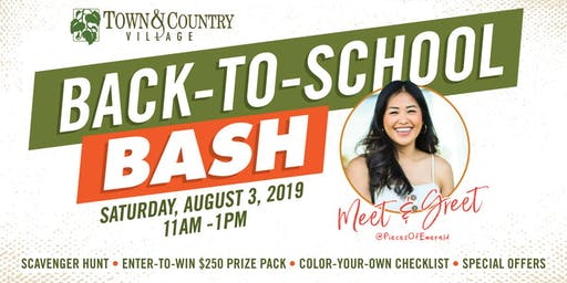 Back-to-School BASH at Town & Country Village