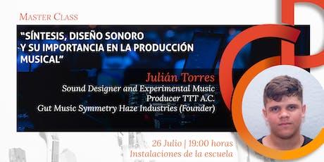 """Master Class """"Síntesis, diseño sonoro y su importancia en la producción musical"""" boletos"""