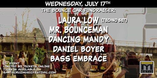 Bounce Car Fundraiser: Laura Low, Mr Bounceman, Dancing Mandy, Daniel Boyer