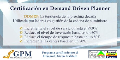 Curso Demand Driven Planner (Sede: Santiago) boletos
