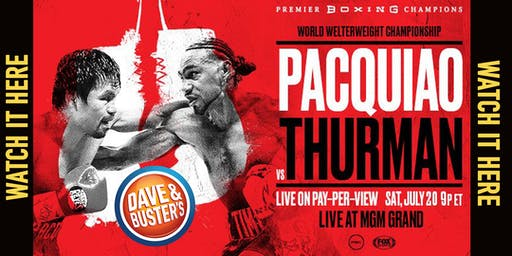 BOXING: Manny Pacquiao vs Keith Thurman - D&B NORTHRIDGE