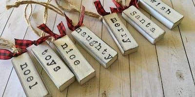 Set of Wood Christmas Ornaments - Set of 7 Workshop