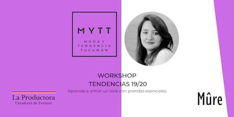 MYTT - WORKSHOP TENDENCIAS 19/20 entradas