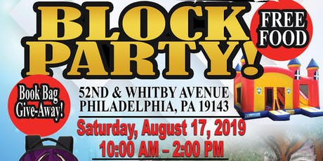 "Free Back-To-School"" Block Party tickets"