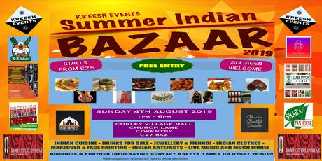Summer Indian Bazaar tickets
