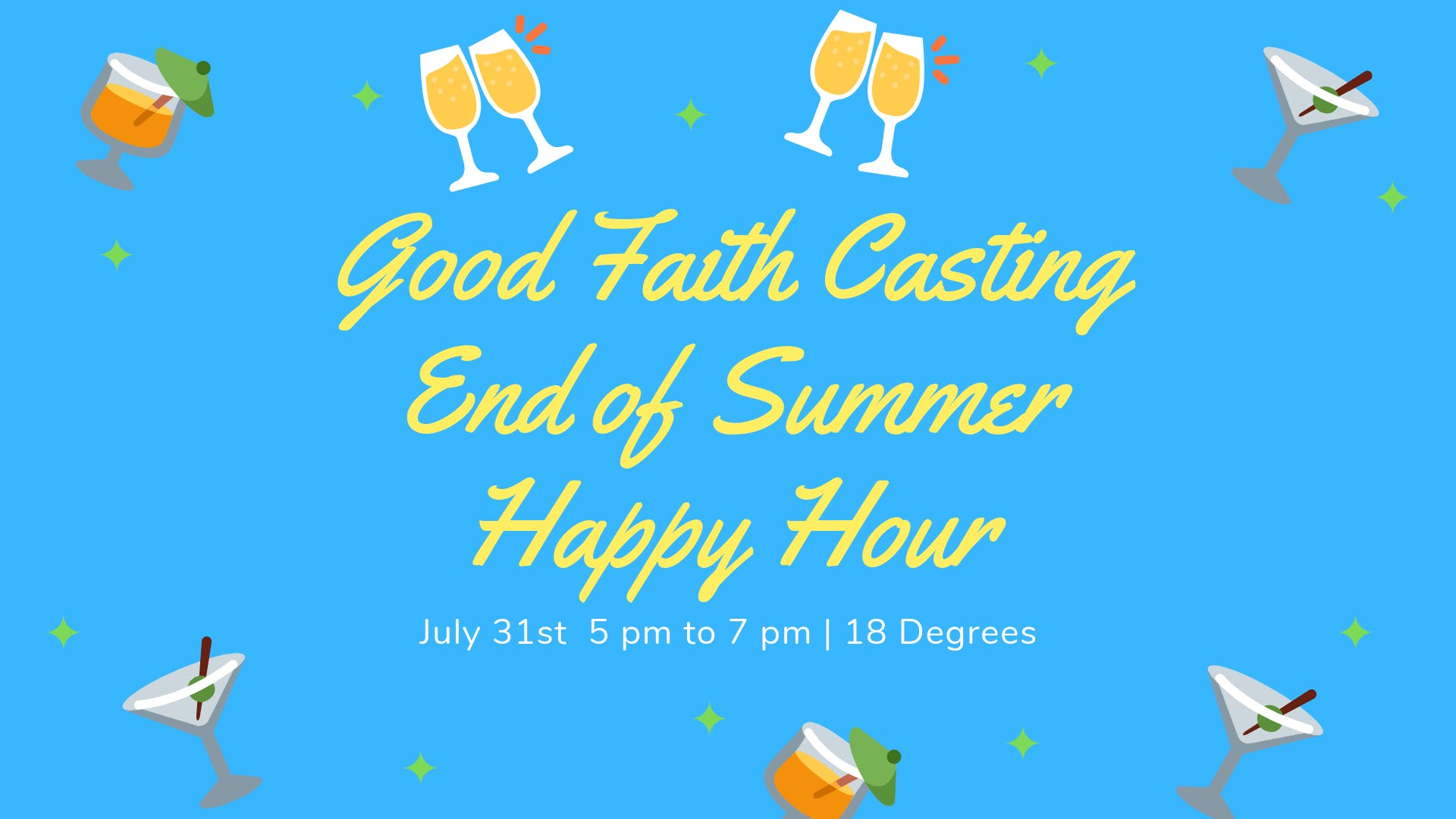 Good Faith Castings End of Summer Happy Hour!