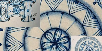 Tangle with Lynne Zentangle® Shades of Blue Workshop & Wine tasting
