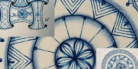 Tangle with Lynne Zentangle® Shades of Blue Workshop & Wine tasting tickets