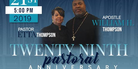 29th Pastoral Anniversary Banquet tickets
