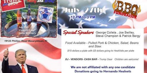 Trump Team 2020 Florida Hernando BBQ/ Fundraiser/ Benefit VeteransHeatFacto