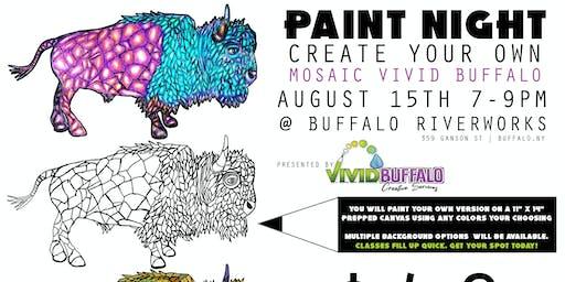 Paint Night: Mosaic Vivid Buffalo