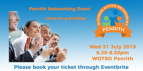 Business Action Networking Penrith - Time to Prioritise tickets