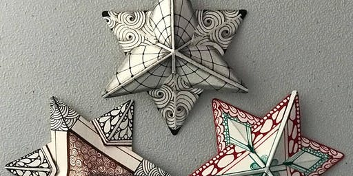 Tangle with Lynne Zentangle® 3D Tangled Stars Workshop & Wine tasting