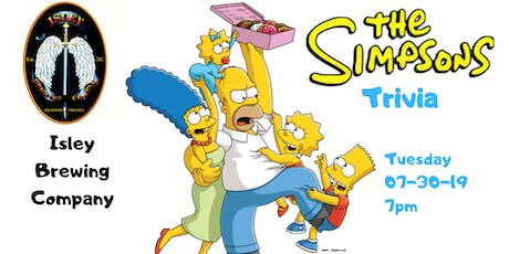 The Simpsons Trivia at  Isley Brewing Company tickets