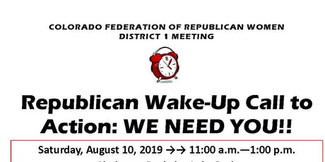 CFRW District 1 Meeting: Wake-Up Call to Action! tickets