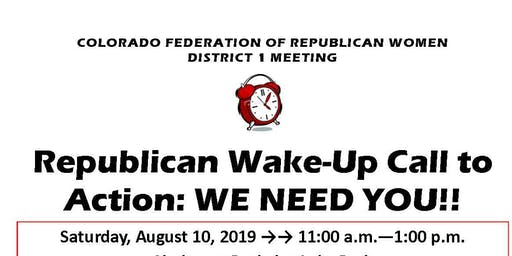 CFRW District 1 Meeting: Wake-Up Call to Action!