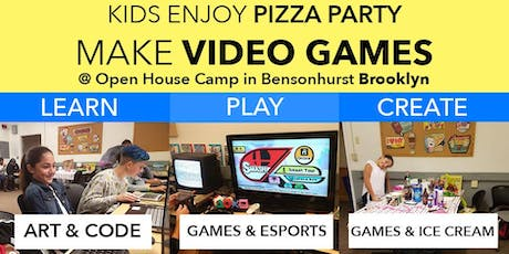 Kids Make Games, Play, Enjoy Pizza Party and More! tickets