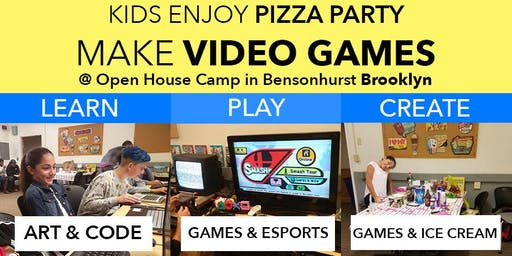 Kids Make Games, Play, Enjoy Pizza Party and More!