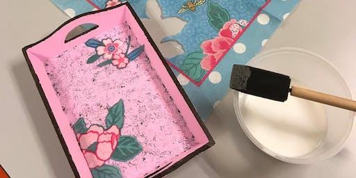 Simei: Decoupage Art Course 欧式剪纸装饰 - Sep 3-Oct 22 (Tue)