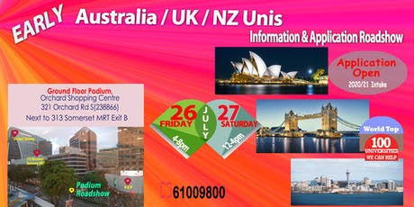 Early UK/Australia/NZ Unis Application & Info Roadshow (Fri & Sat) tickets