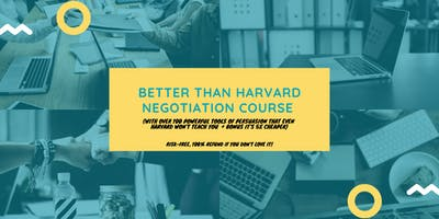 Better than Harvard Negotiation Course (5x cheaper): Canberra (14-15 October 2019)