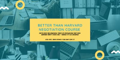 Better than Harvard Negotiation Course (5x cheaper): Perth (25-26 October 2019)