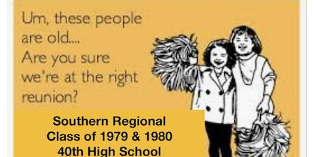 Southern Regional High School Class of 1979 & 1980's 40th Reunion tickets