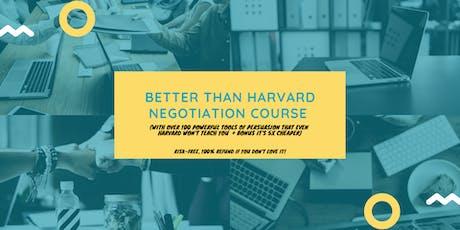 Better than Harvard Negotiation Course (5x cheaper): Den Haag (6-7 December 2019) tickets