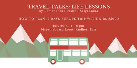 Travel Talks: Life Lessons tickets