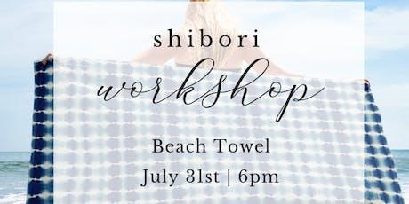 Shibori Beach Towel | L'Auberge tickets