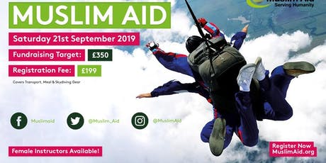 Skydive for Muslim Aid tickets